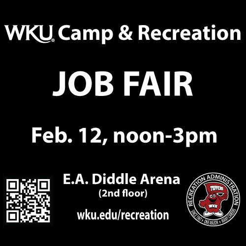 WKU Camp & Recreation Job Fair, Feb 12
