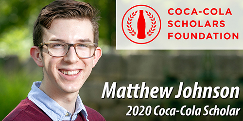 Matthew Johnson Named 2020 Coca-Cola Scholar