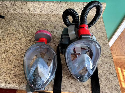 Ogden College Dean converts scuba masks into personal protective equipment