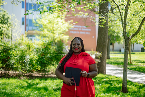 Human Resource Management student balances academics and homeschooling