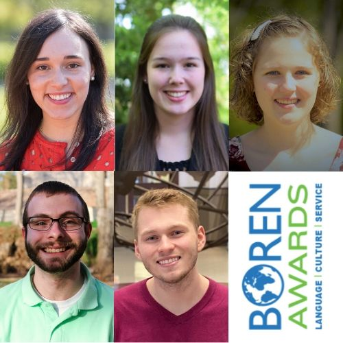 Five WKU Students Awarded Boren Scholarships