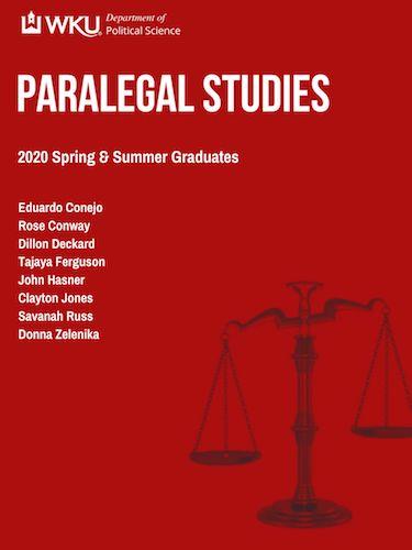 2020 Spring and Summer Graduating Paralegal Studies Seniors