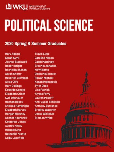 2020 Spring and Summer Graduating Political Science Seniors