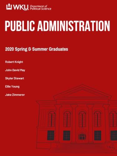 2020 Spring and Summer MPA Graduates