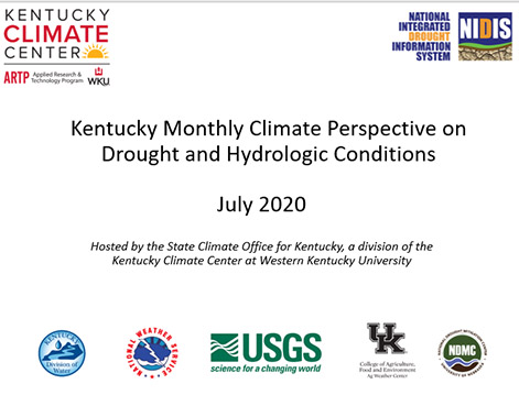 Kentucky Climate Center webinar series provides updates on climatic conditions