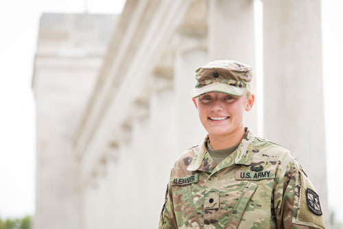 Alexander enters fourth year with plans to continue in the National Guard
