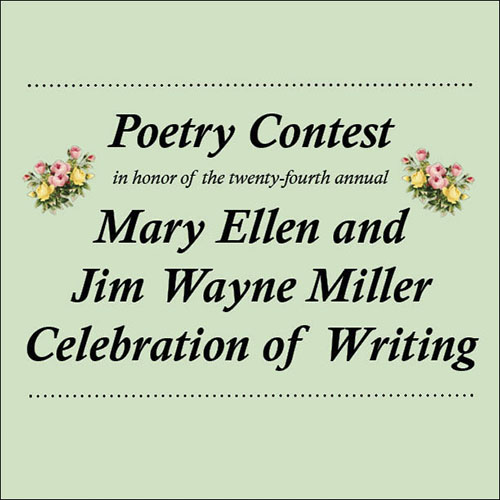 2020 Mary Ellen and Jim Wayne Miller Celebration of Writing
