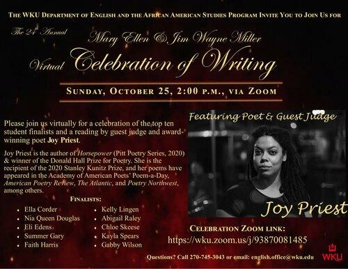Mary Ellen Miller & Jim Wayne Miller Celebration of Writing To Be Held Octob...