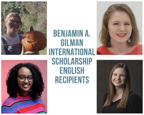 Students Receive Benjamin A. Gilman International Scholarship