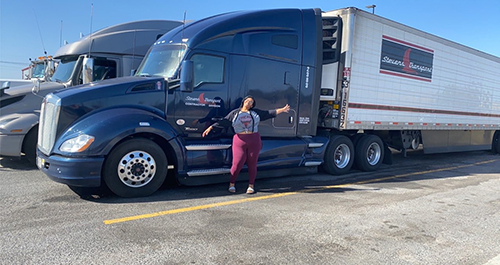 CSA Student serves as essential worker through professional driving