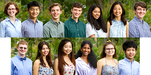 13 Gatton Academy Seniors Recognized as Candidates for 2021 U.S. Presidential Scholars Program