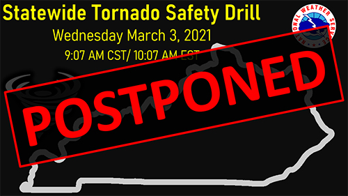 Update: Statewide tornado drill postponed