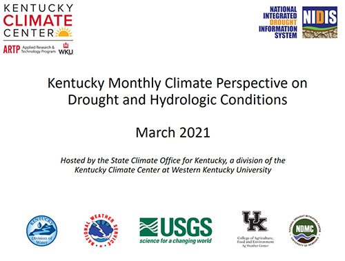 State Climate Office for Kentucky provides overview of recent weather, climate conditions