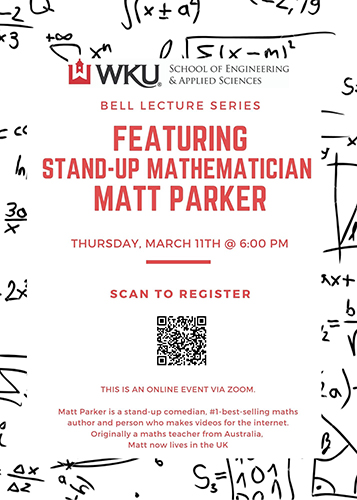 Stand-up Mathematician to present WKU lecture March 11