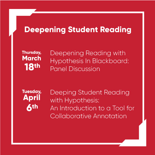 Deepening Student Reading