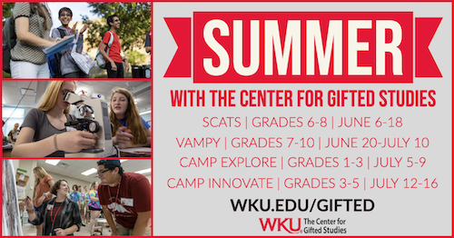 Registration for Summer Camps for Gifted Students Now Open