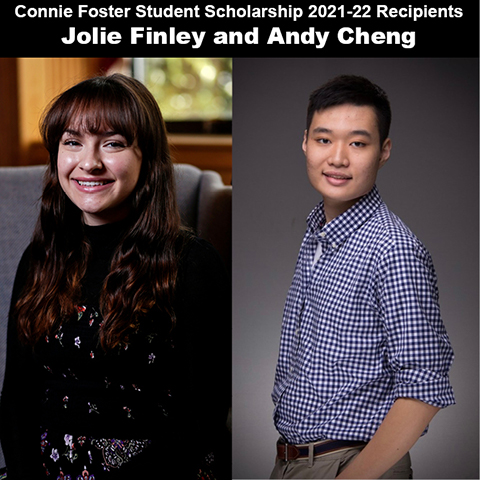 WKU Libraries awards Connie Foster Student Scholarships to Jolie Finley and Andy Cheng