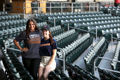 WKU marketing students pursue internships with the Bowling Green Hot Rods