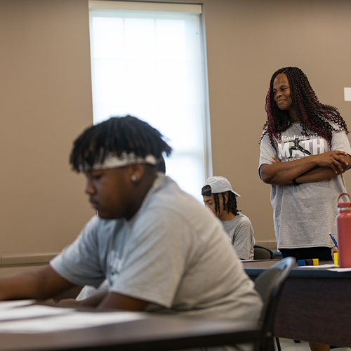 Math and Counseling & Student Affairs Professors connect with teens for Minding My Math Business