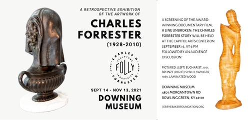 Exhibit of Charles Forrester's artwork to open Sept. 14 at Downing Museum