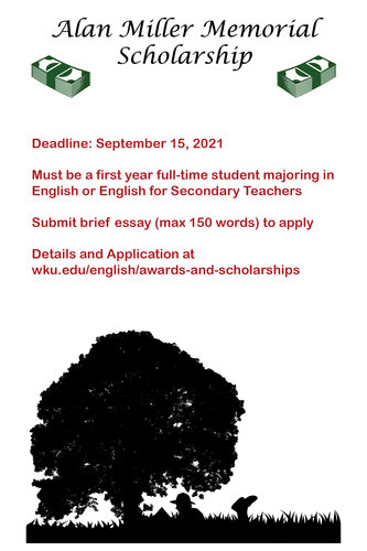 Alan Miller Memorial Scholarship Deadline September 15