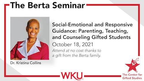 National Speaker Dr. Kristina Collins to Present at the 2021 Berta Seminar