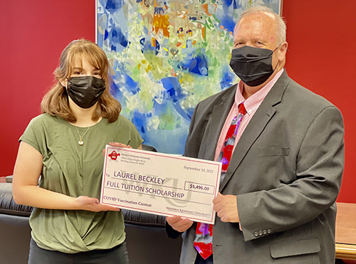WKU awards prizes to first group of vaccine incentive contest winners