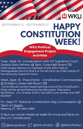 WKU Political Engagement Project Ready to Kick Off Constitution Week