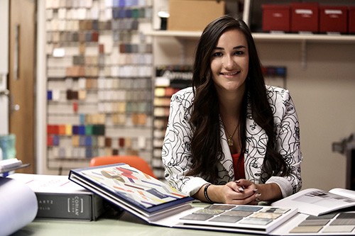 CHHS Student Thrives in Interior Design Community