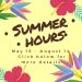 2020 Summer Hours