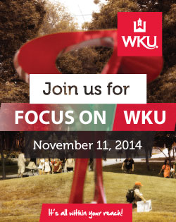Join us for FOCUS on WKU, November 11. Click image to register online