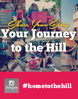 Share your journey to campus #HomeToTheHill