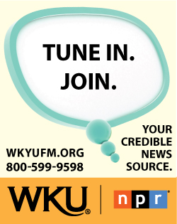 Tune In. Join. Your source for in-depth credible news. wkyufm.org 8005999598 WKU NPR