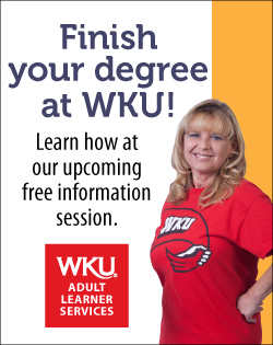 Finish your degree at WKU! Learn how at our upcoming free information session. WKU Adult Learner Services.