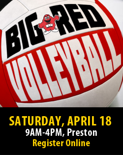 Big Red Volleyball! Saturday, April 18, 9am-4pm at the Preston Center. Big Volleyballs, Big Games, and Big Fun! Teams of 8-10 people, lunch provided for registered participants. Register as a team or individual online at www.wku.edu/housing/bigredvolleyball
