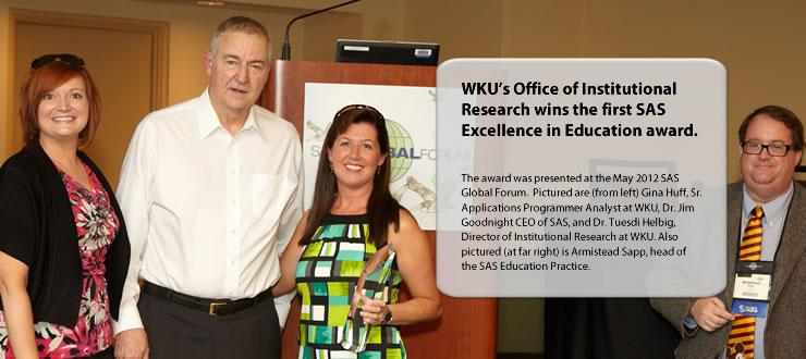 IR wins Excellence in Education Award