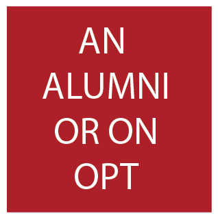 Button on homepage for alumni/opt