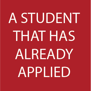 Button on homepage for applied students
