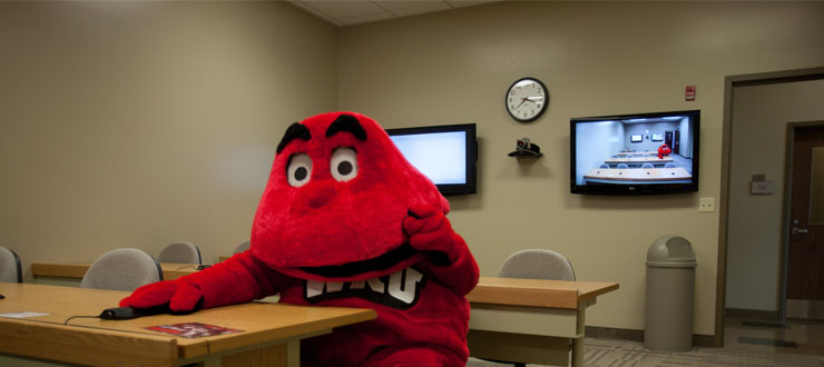 Big Red using an IVS Room.