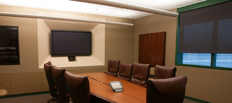 Executive Styled Video Conference Room, Mass Media and Technology Hall, Room 279.
