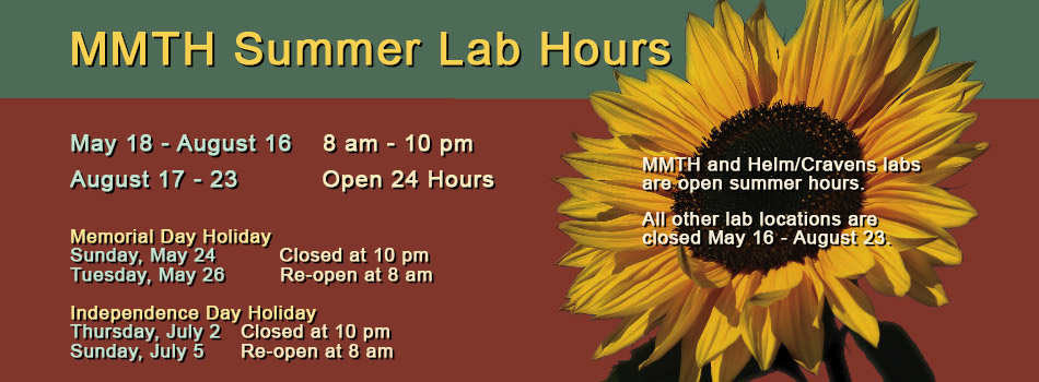 Summer Lab Hours
