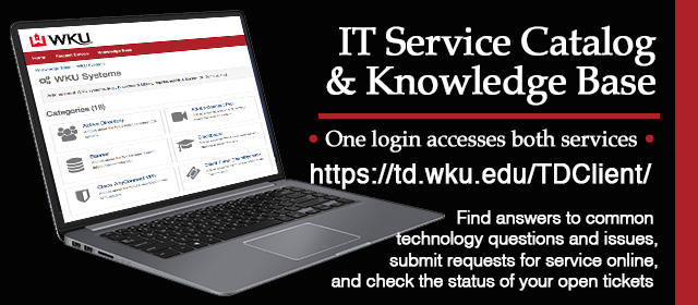 IT Service Catalog and Knowledge Base