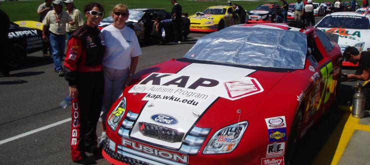 Marty Boman, Deborah Renshaw Parker and the KAP race car