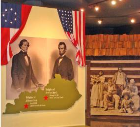 Photo of Civil War exhibit entrance