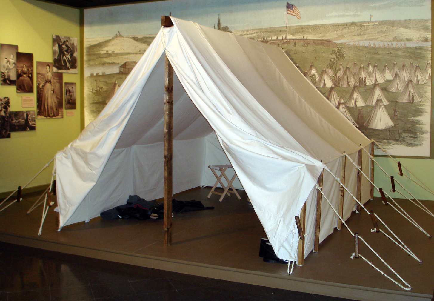 Photo of Civil War tent