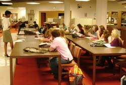 Class in special collections library
