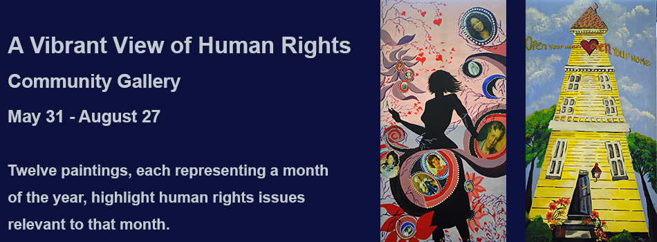 Vibrant View of Human Rights exhibit
