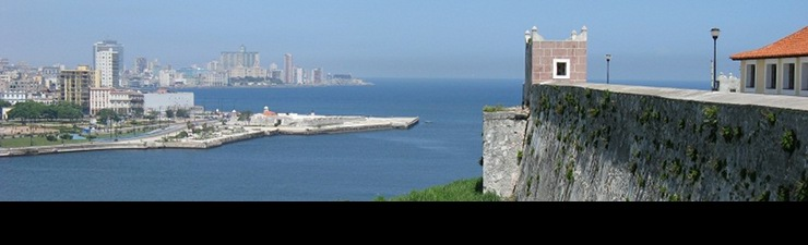 View of Havana harbor from La Cabaña fort