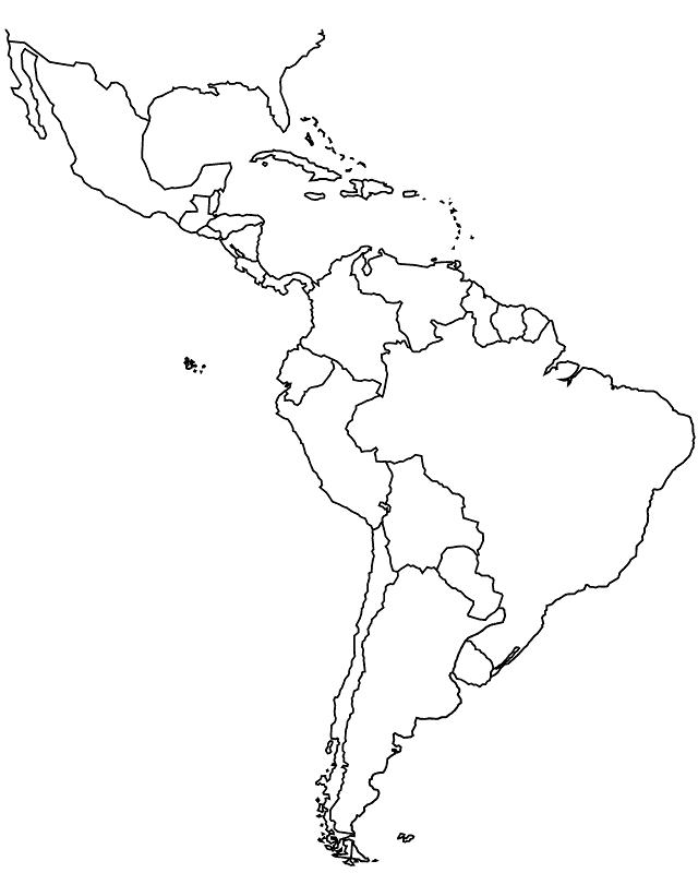 South America Map Outline Countries