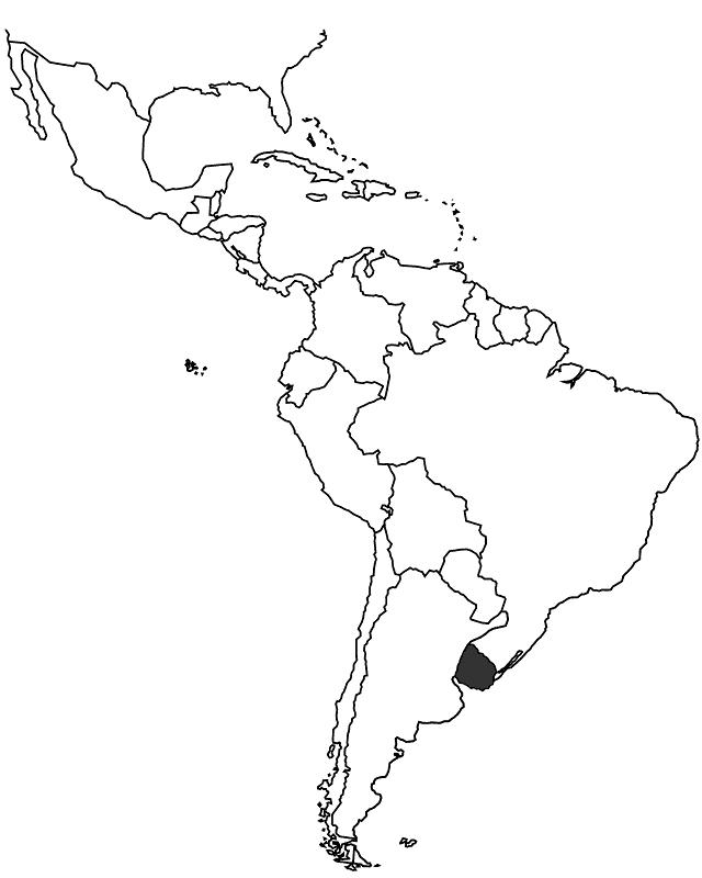 WKU In Latin America - Uruguay blank map
